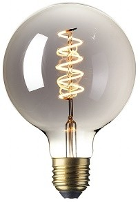 425783 Calex LED Full Glass Flex Filament Globe Lamp 240V 4watt Titanium