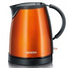 WK9736 Severin oranje waterkoker colour edition 1350Watt 1,0Liter gelakt rvs